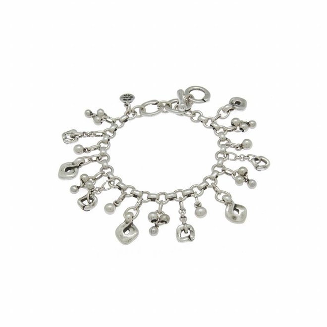 BRACELET METAL SILVER PLATED, COLLECTION PARADISE, REF. 181136-00-0