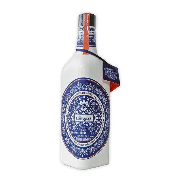 "TEQUILA BLANCO TRIPLE DESTILADO ""LA COFRADIA"" , MEXICO, 700 ML"