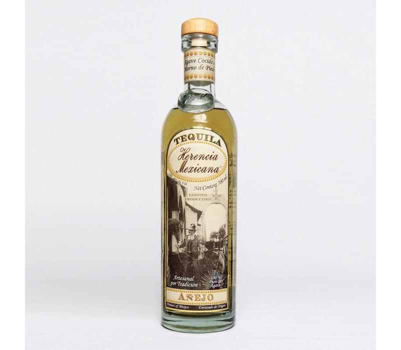 "TEQUILA  AGED AÑEJO ""HERENCIA MEXICANA"" - MEXICO -700 ML"