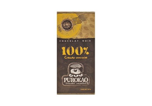 Purokao DARK CHOCOLATE 100% COCOA - MEXICO - 100g