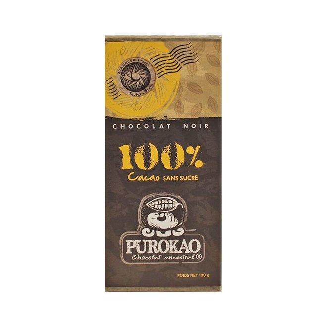 CHOCOLATE NEGRO 100% CACAO - MEXICO - 100g