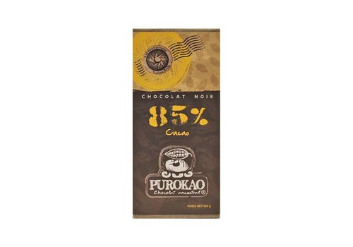 Purokao DARK CHOCOLATE 85% COCOA - MEXICO - 100g