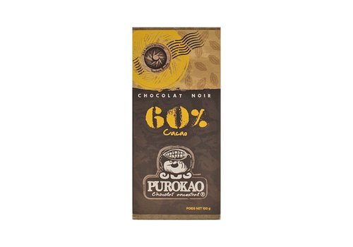 PUROKAO DARK CHOCOLATE 60% COCOA - MEXICO - 100g