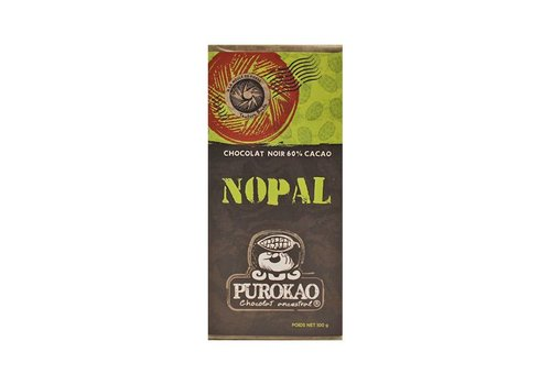 "PUROKAO DARK CHOCOLATE 60% WITH CACTUS  ""NOPAL"" - MEXICO - 100 G"