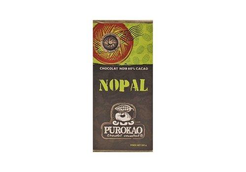 """PUROKAO DUNKLE SCHOKOLADE 60% MIT KAKTUS  """"NOPAL"""" - MEXIKO - 100 G"""