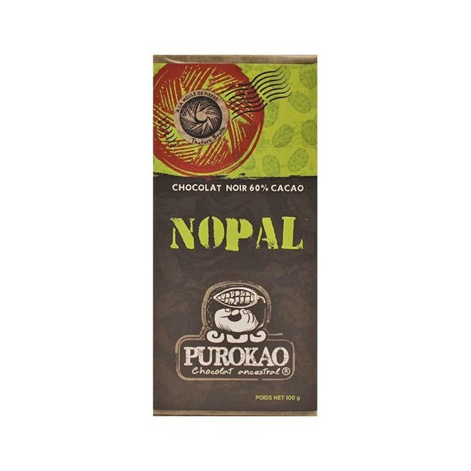 "DARK CHOCOLATE 60% WITH CACTUS  ""NOPAL"" - MEXICO - 100 G"