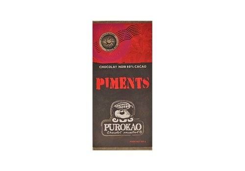 PUROKAO DARK CHOCOLATE 60% WITH CHILI - MEXICO - 100 G