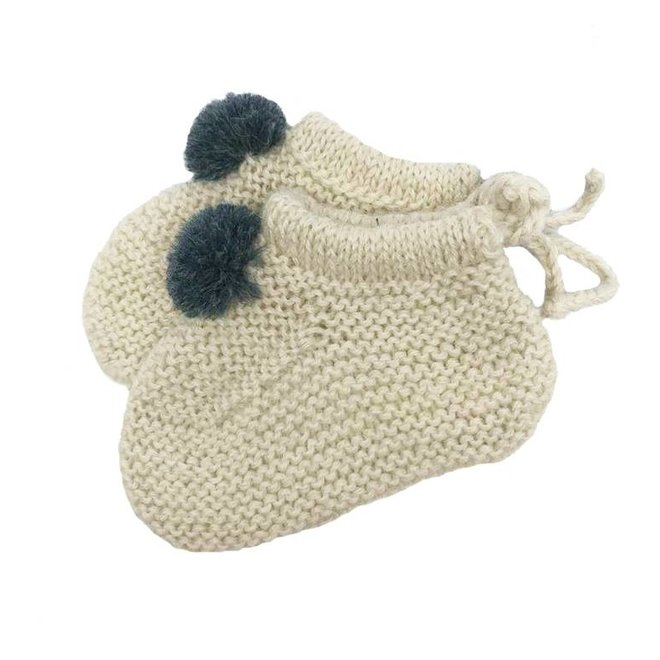 BABY HAND KNITTED SHOES - BABY ALPACA WOOL