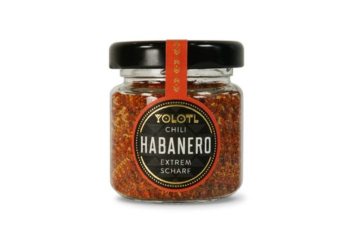 Yolotl DRIED HABANERO CHILI FLAKES - EXTREMELY SHARP! (12g)