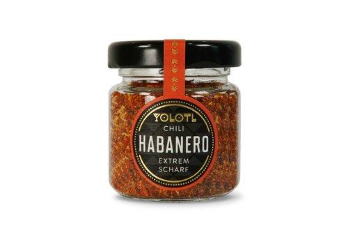 Yolotl ESCAMAS DE CHILE HABANERO DESHIDRATADO – EXTREMADAMENTE PICANTE! (12g)