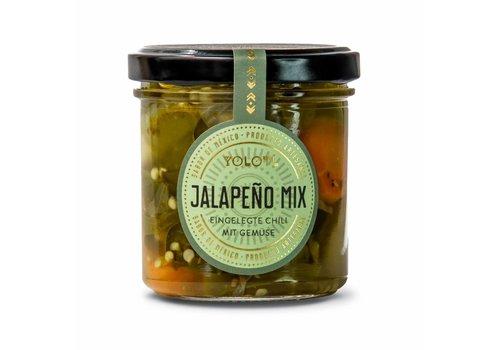 Yolotl JALAPEÑO MIX - CHILE DE JALAPEÑO CON VEGETALES  (160ML)