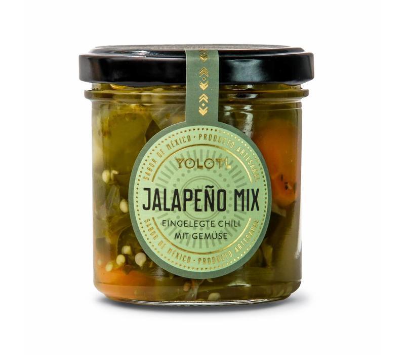 JALAPEÑO MIX – EINGELEGTE JALAPEÑO CHILI MIT GEMÜSE  (160ML)