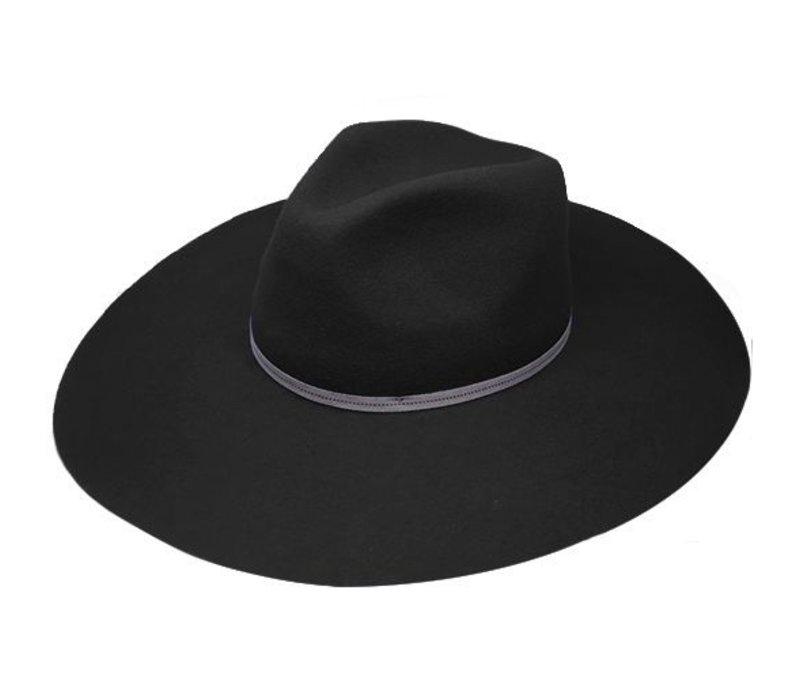 "FLOPPY HAT ""MONACO"" FILZWOLLE FROM ECUADOR - BLACK"