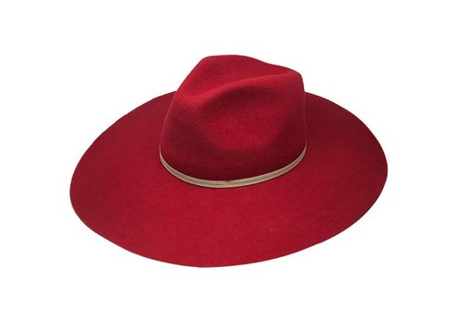 "Cayambe FLOPPY HAT ""MONACO"" FILZWOLLE FROM ECUADOR - RED"
