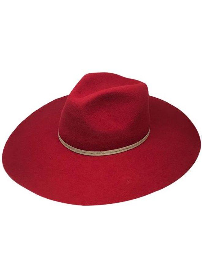 "FLOPPY HAT ""MONACO"" FILZWOLLE FROM ECUADOR - RED"
