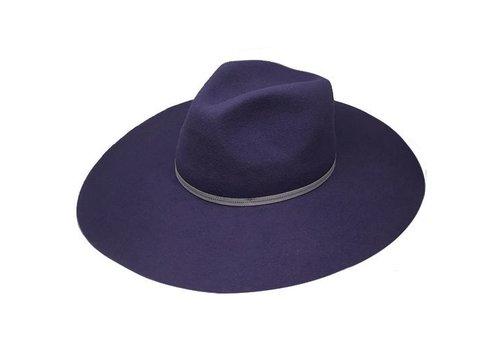 "Cayambe FLOPPY HAT ""MONACO"" FILZWOLLE FROM ECUADOR - NAYY BLUE"