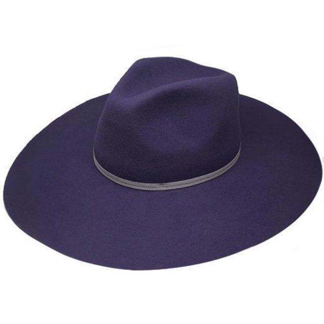 "FLOPPY HAT ""MONACO"" WOOL FELT FROM ECUADOR - NAVY BLUE"