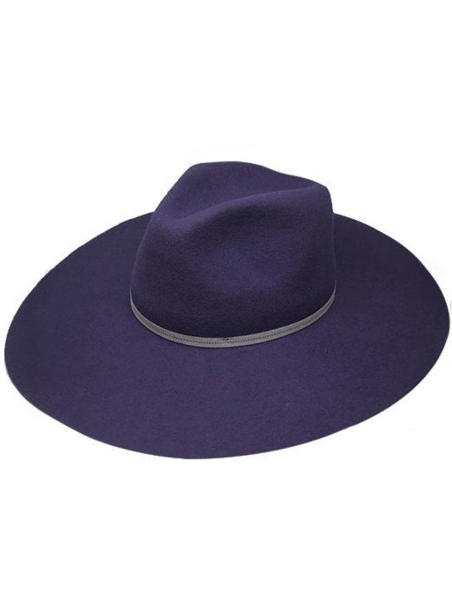 "FLOPPY HAT ""MONACO"" FILZWOLLE FROM ECUADOR - NAVY BLUE"