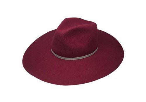 "Cayambe FLOPPY HAT ""MONACO"" FILZWOLLE FROM ECUADOR - BURGUNDY"