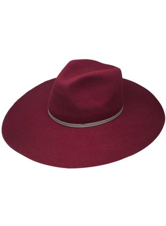"FLOPPY HAT ""MONACO"" FILZWOLLE FROM ECUADOR - BURGUNDY"