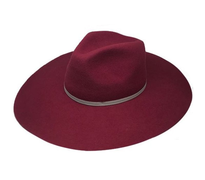 "FLOPPY HAT ""MONACO"" FILZWOLLE FROM ECUADOR - BURGUNDY"