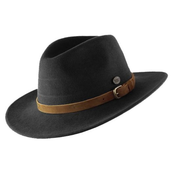 "HAT ""DISCOVERY"" WOOL FELT AUS ECUADOR - BLACK"