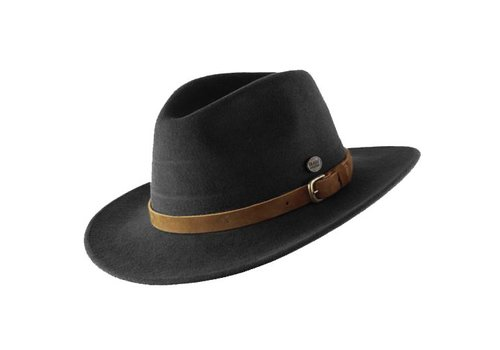 "Cayambe HAT ""DISCOVERY"" WOOL FELT AUS ECUADOR - BLACK"