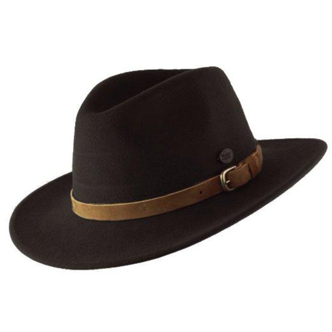 "HAT ""DISCOVERY"" WOOL FELT AUS ECUADOR - CHOCOLATE BROWN"