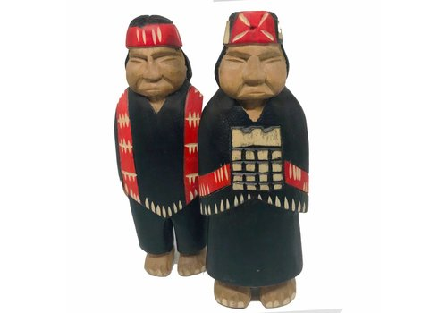 MAPUCHE WOOD COUPLE - CHILE