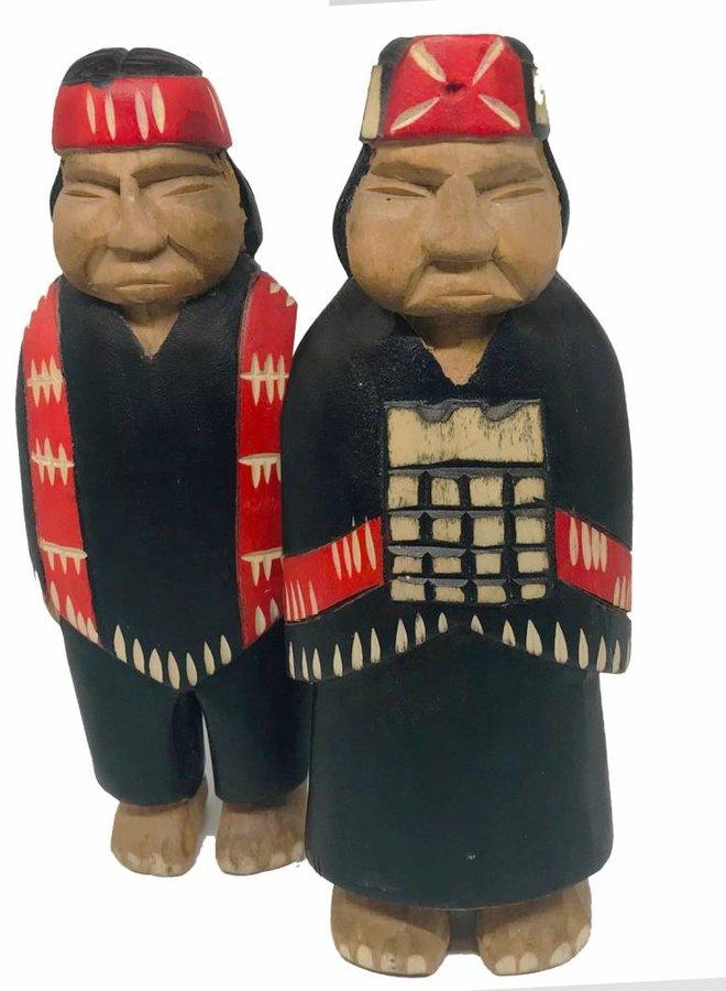 MAPUCHE WOOD COUPLE - CHILE