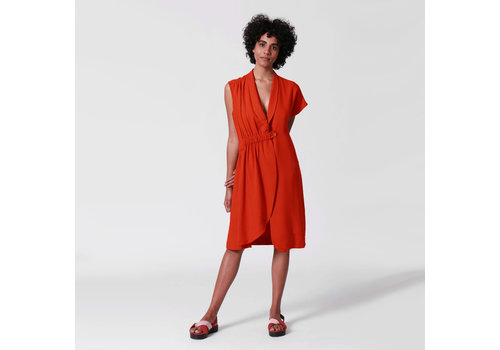 ANGELA BRITO DRESS ASYMMETRICAL AND ELASTIC  MARESIA | BRASIL