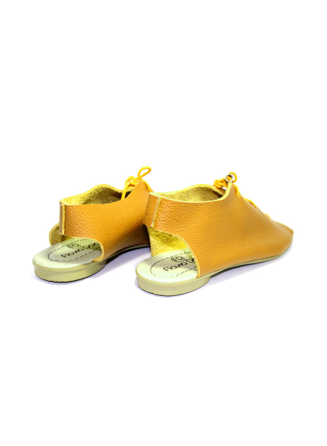 "SANDALS ""SEA"" SOFT LEATHER - MUSTARD - BRASIL - VOLARE NEW COLLECTION"