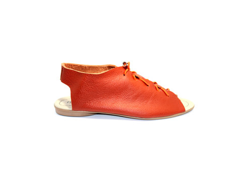 "FLAVIO DOLCE SANDALS ""SEA"" SOFT LEATHER - ORANGE - BRASIL"