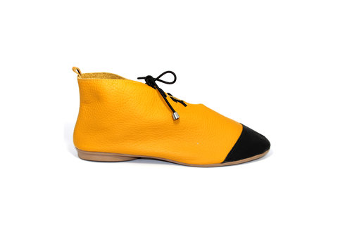 "FLAVIO DOLCE SHOES ""NICKY"" SOFT LEATHER - MUSTARD - BRASIL"