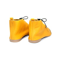 "SHOES ""NICKY"" SOFT LEATHER - MUSTARD - BRASIL - VOLARE NEW COLLECTION"