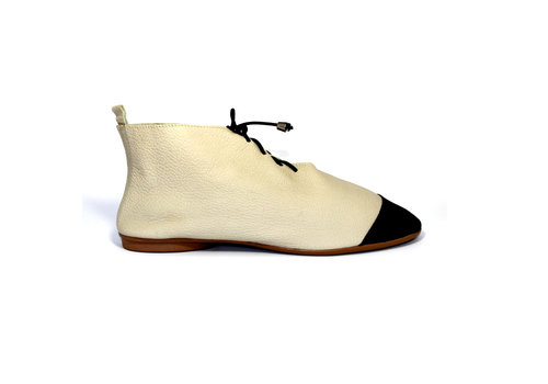 "FLAVIO DOLCE SHOES ""NICKY"" SOFT LEATHER - SAND  - BRASIL"