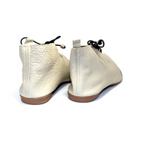 "SHOES ""NICKY"" SOFT LEATHER - SAND  - BRASIL - VOLARE NEW COLLECTION"