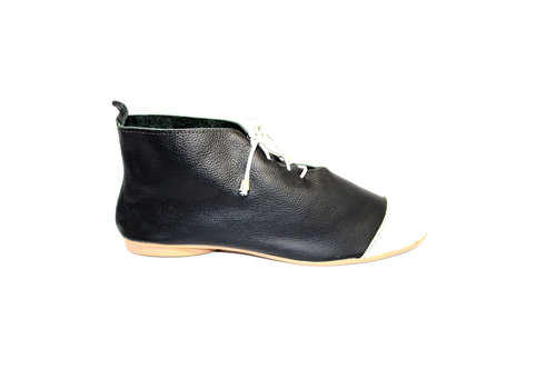 "FLAVIO DOLCE SHOES ""NICKY"" SOFT LEATHER - BLACK - BRASIL"