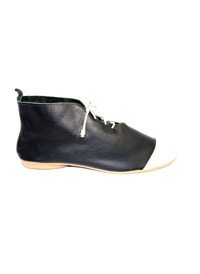 "ZAPATOS ""NICKY"" CUERO SUAVE - BLACK - BRAZIL - VOLARE COLLECTION"
