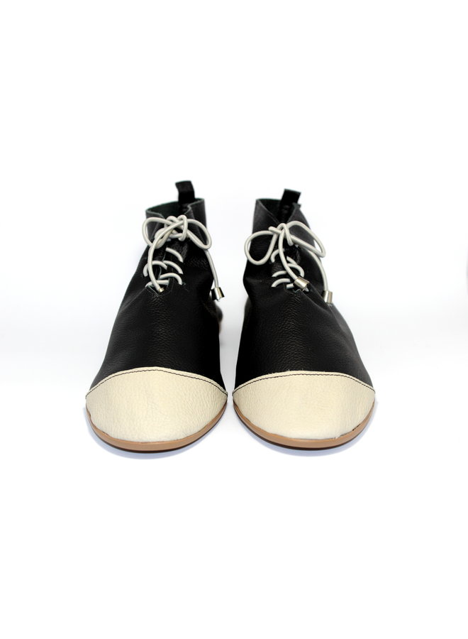 "SHOES ""NICKY"" SOFT LEATHER - BLACK - BRASIL - VOLARE NEW COLLECTION"