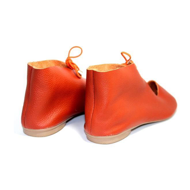 "SCHUHE ""NORA"" SOFT LEDER - ORANGE  - BRASILIEN - VOLARE NEW COLLECTION"