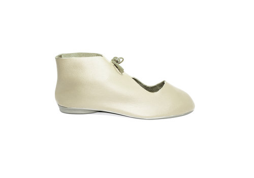 "FLAVIO DOLCE SHOES ""NORA"" SOFT LEATHER - SAND - BRASIL"