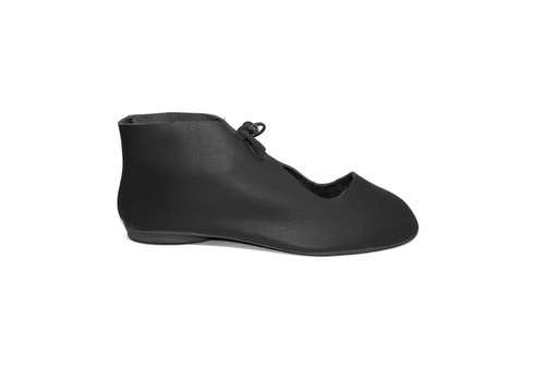 "FLAVIO DOLCE SHOES ""NORA"" SOFT LEATHER - BLACK -  BRASIL"