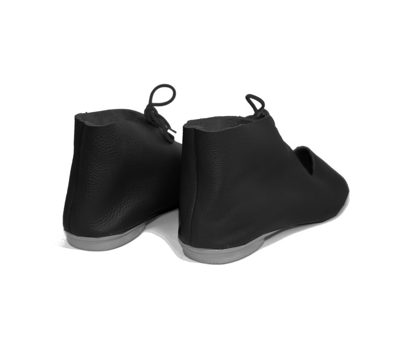 "SHOES ""NORA"" SOFT LEATHER - BLACK - BRASIL"