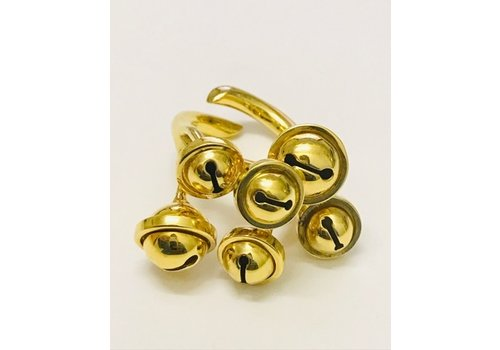 INA BEISSNER RING CASCABELES SILVER GOLD PLATED 24kt