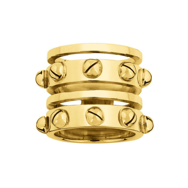 RING CONSUELO SILVER GOLD PLATED 24kt