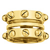 INA BEISSNER RING PIPA SILVER GOLD PLATED 24kt