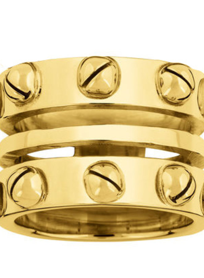 RING PIPA SILVER GOLD PLATED 24kt