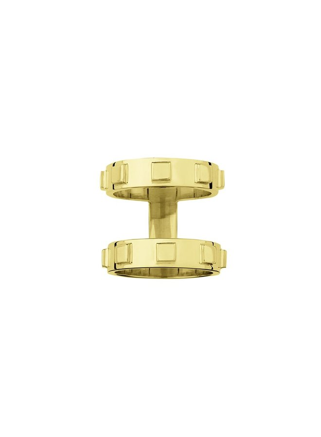 RING LIDIA SILVER GOLD PLATED 24kt  MATT