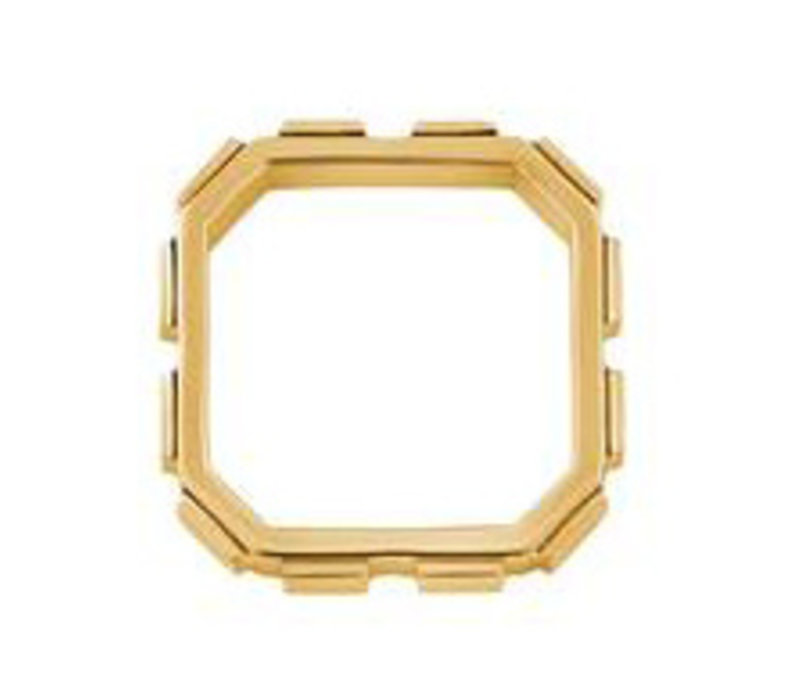 RING COCO SILVER GOLD PLATED 24ct